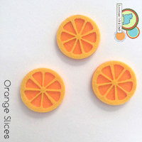 Orange Slice fruit felt shapes