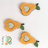 Pears fruit felt shapes