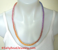 Rainbow Ice Necklace Kit Sally Bead Jewelry