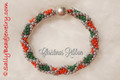 Christmas Ribbon - Bracelet Kit
