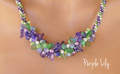 Purple Lily -  Necklace Kit