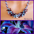 Blue Asiatic Lily -  Necklace Kit