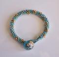 Turquoise Gold n Silver Bracelet Kit