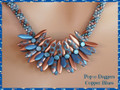 Pop-o-Daggers - Copper Blues - Necklace Kit