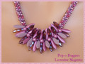 Pop-o-Daggers - Lavender Magenta - Necklace Kit