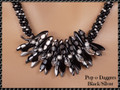 Pop-o-Daggers - Black/Silver - Necklace Kit