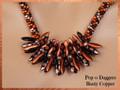 Pop-o-Daggers - Rusty Copper - Necklace Kit