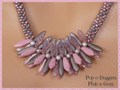Pop-o-Daggers - Pink-n-Gray - Necklace Kit