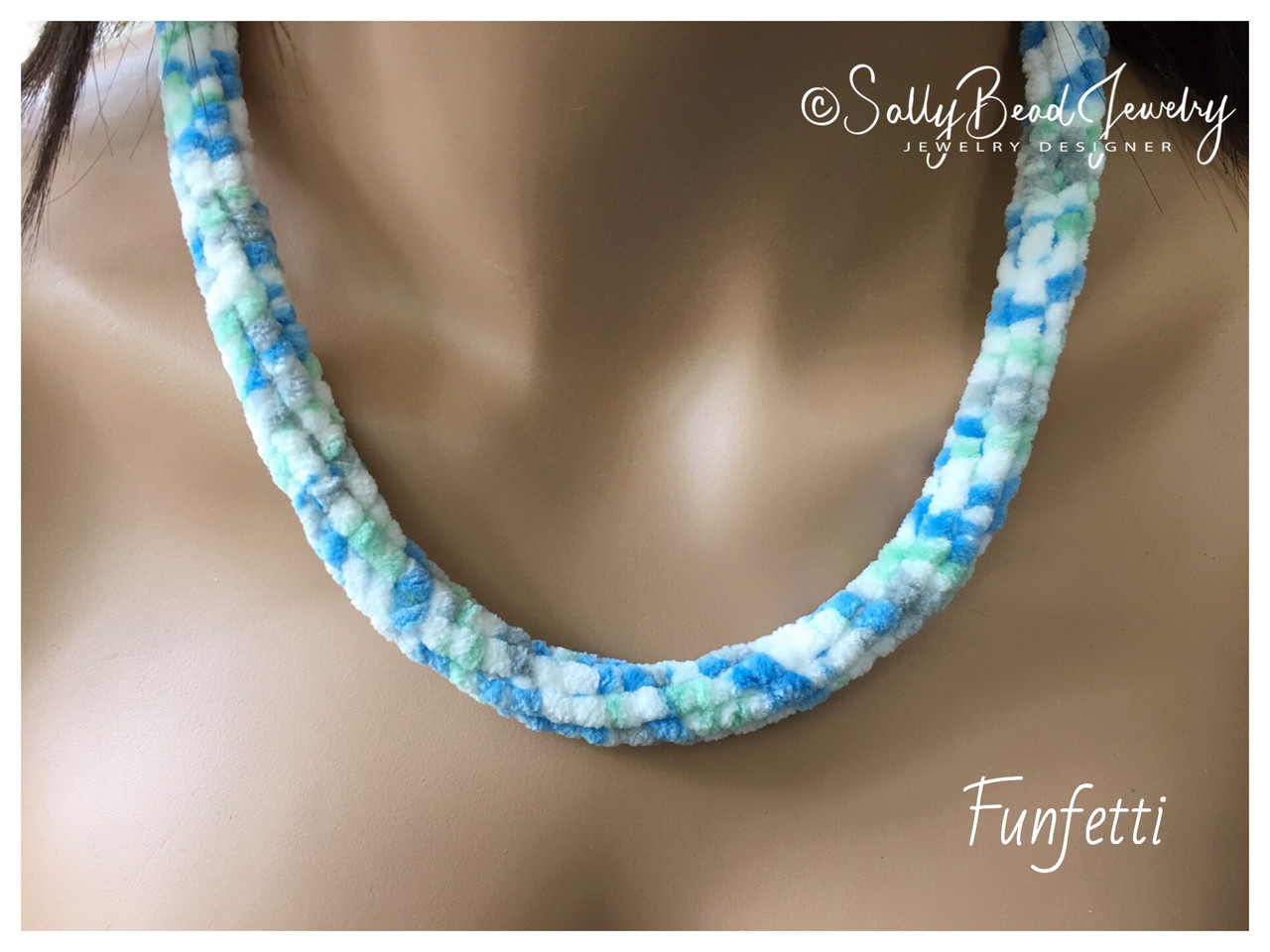 Chenille Yarn - Funfetti - Sally Bead Jewelry