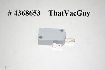 Sears Kenmore Elite Vacuum Cleaner Micro Switch part # 4368653. FIts Kenmore Elite Model # 11631150310