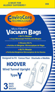 Hoover Y MIcro Lined Vacuum bags Windtunnell Tempo
