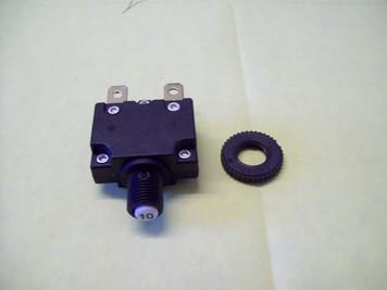 10 Amp Circuit Breaker for Central Vacuum 125-250 Volt AC 32 Volt DC 10 Amperage