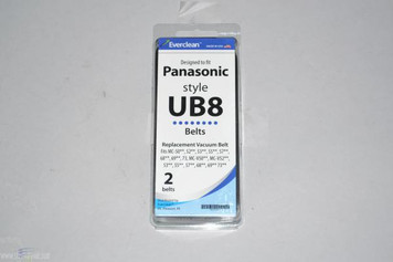 2 Panasonic UB8 Replacement Vacuum Cleaner Belts