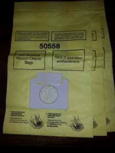 3 Vacuum Bags Kenmore Canister Type C & Type Q 5055, 50557 & 50558, Also Fits Panasonic Type C-5
