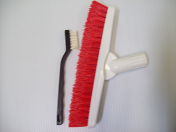 2 Grout Brush Set- Easy Grip Small Brush & Pivot Neck Large Brush