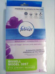 Bissell 3267 Febreze Vacuum Bags- 3 Pack