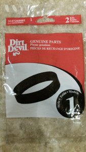 Genuine Dirt Devil 1232240001, Style 1, Hand Vac, Prince- 2 Pack Belts