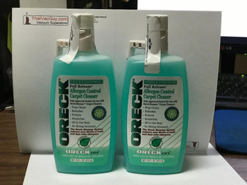 2 Bottles Oreck Allergen Control Carpet Cleaner Shampoo 16 OZ. Professional Full Release