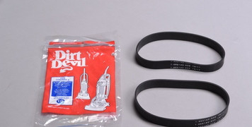 One package of 2 new Genuine Royal Dirt Devil Style 10 vacuum cleaner belts.
