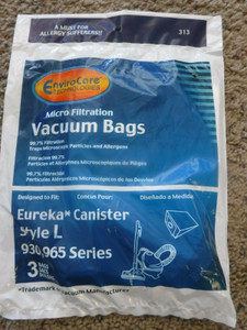 3 Eureka Power Mite and Mini Mite L Micro Filtration Allergy Vacuum Cleaner Bags
