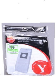 3 Genuine Hoover Windtunnel Style Y Vacuum Cleaner Bags, Genuine OEM 4010100Y
