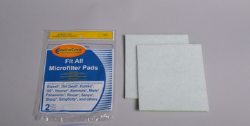 """Fit All MicroFilter Vacuum Cleaner Filters. Cut to fit filter media. Two 7"""" x  8"""" Filter pads."""