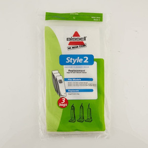 3 Pack - Genuine Bissell Style 2 Vacuum Bags PowerPartner PowerGroom Uprights