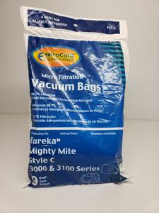 9 Pack - Eureka Mighty Mite Style C Vacuum Bags 52318 14035 3000 3100 series
