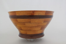 #435 Exotic Canary wood & Panga Panga Segmented Wood Bowl