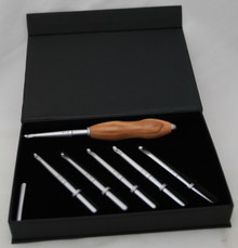 Interchangeable Crochet Hook Set Olivewood 1