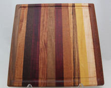 Exotic Wood Cutting Board with Groove # 1141