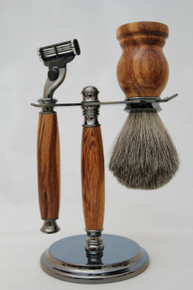 Brush & Razor & Stand Marble Wood