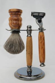 Brush & Razor & Stand Marble Wood gm