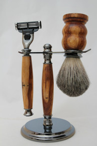 Brush & Razor & Stand Marble Wood gm1