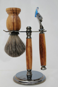Brush & Razor & Stand Marble Wood gm2