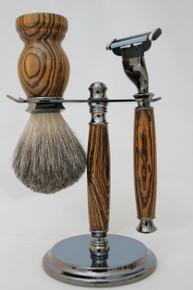 Brush & Razor & Stand Bocote