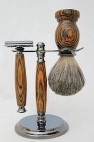 Brush & Razor & Stand Bocote gm