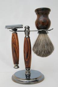 Brush &Razor & Stand Cocobolo gm