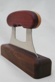 Alaskan Ulu Knife Purpleheart & Bird's Eye Maple