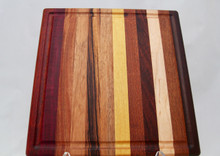 Exotic Wood Cutting Board with Groove # 2184