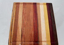 Exotic Wood Cutting Board with Groove # 2182