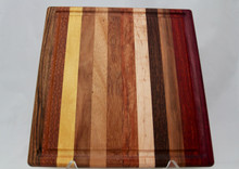 Exotic Wood Cutting Board with Groove # 2180