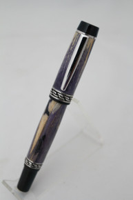 Fountain Pen Olympian Elite 2 Stabilized Spalted Hackberry Dyed Violet