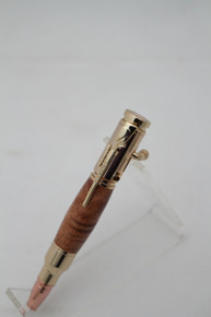 Mini 30 Cal Figured Mesquite Pen