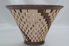 Open Segmented Birch & Walnut Vessel # 581