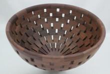 Open Segmented Walut Bowl # 585