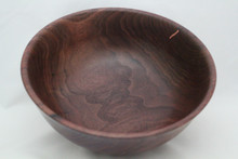 Walnut Bowl with Copper Inlay # 670