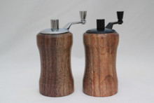 Mini Salt and Peppermills Walnut 2