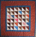 Half Square Triangle 3 1/2""