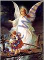 Guardian Angel over Bridge (16x20)